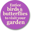 Entice birds and butterflies to visit your garden